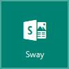 """""""Sway"""" logotipas, atidaryti """"Microsoft Sway"""""""