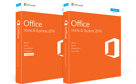 """Office Home & Business 2016"", ""Office Home & Student 2016"""