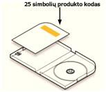 Produkto kodo vieta ant DVD dėklo