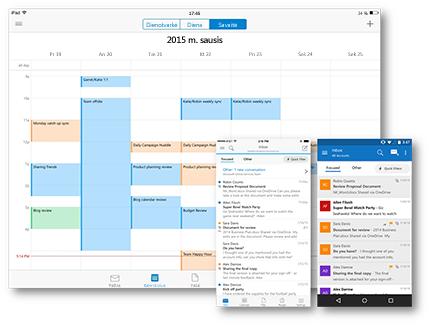 """""""Outlook"""" įvairiuose jūsų mėgstamuose įrenginiuose"""