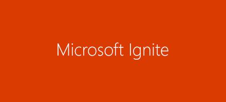 Microsoft Ignite logotips, uzziniet vairāk par Microsoft Ignite 2016