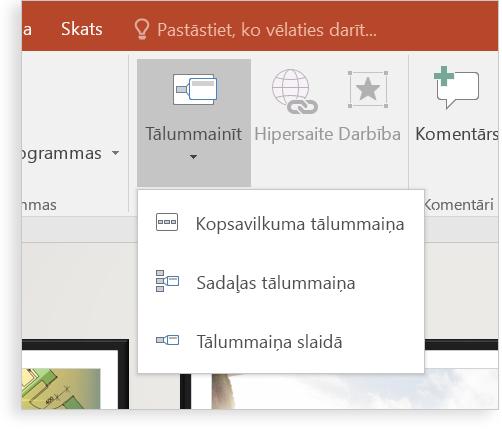 Planšetdators, kurā attēlots PowerPoint slaids ar tālummaiņu