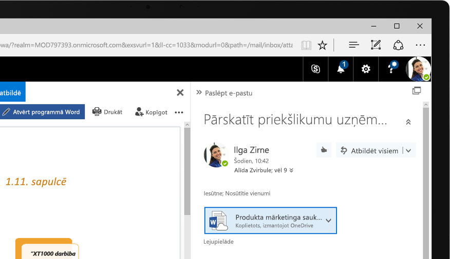 Exchange2016 Windows planšetdatorā