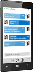 Lync 2013 darbam ar Windows Phone
