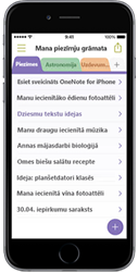 OneNote darbam ar iPhone