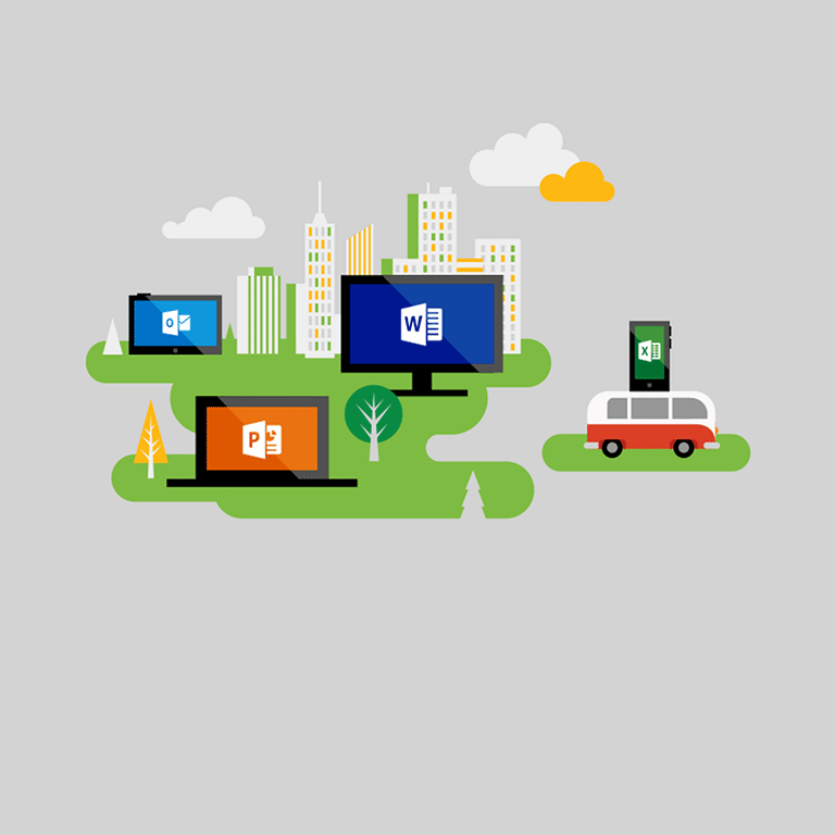 Programmu pilnās versijas visās ierīcēs. Iegūstiet Office365 Business.