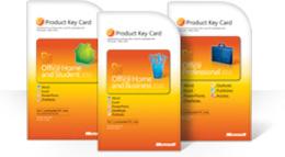 Office2010 produkta atslēgas kartes izmantošana