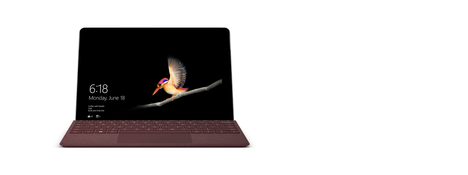 Surface Go dengan Surface Go Signature Type Cover