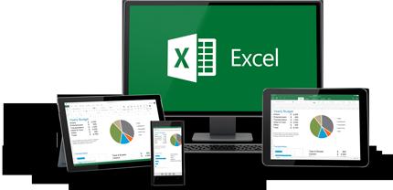Excel fungerer på alle enhetene