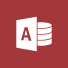 Access-logo, startsiden for Microsoft Access