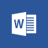 Word-logo, startsiden for Microsoft Word