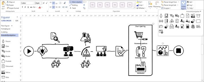 opprette allsidige diagrammer  visio pro for office 365