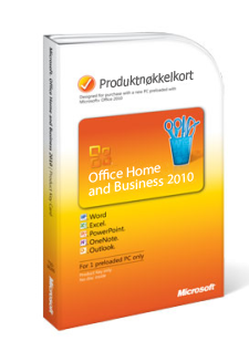 Produktnøkkelkort for Office 2010