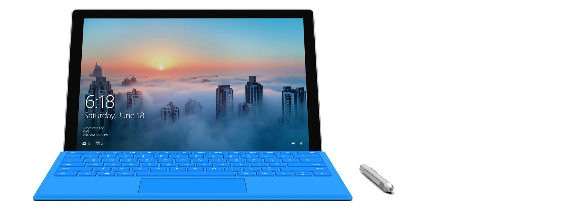 "Surface Pro 4 display showing the photos app UI"" PixelSense™ Display"