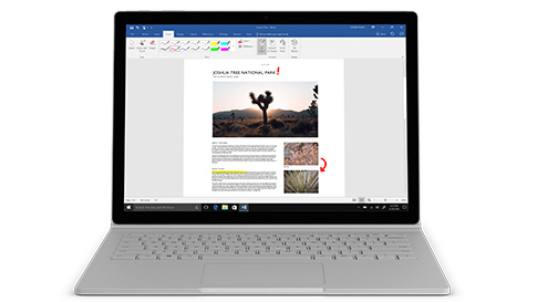Surface Book 2 med 13,5-tommers PixelSense™-skjerm og Intel® Core™ i7-8650U-prosessor med Quad-Core-datakraft for i7 13.5