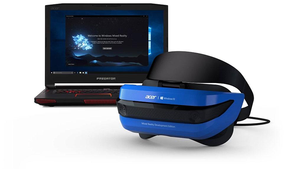 MR-headset med Windows 10-enhet