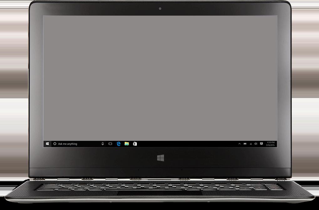 Bærbar datamaskin med Start-menyen i Windows 10