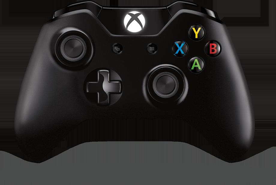 Xbox-kontroller og alt-i-ett-PC med Xbox på skjermen