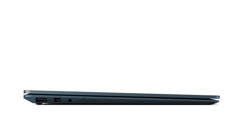 Surface Laptop i koboltblått sett fra siden