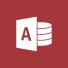 Access-logo, de startpagina van Microsoft Access