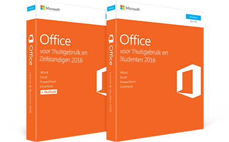 Office 2016 voor Thuisgebruik en Zelfstandigen, Office 2016 voor Thuisgebruik en Studenten