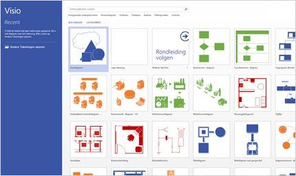 Schermafbeelding van de Visio-pagina in Office 365.