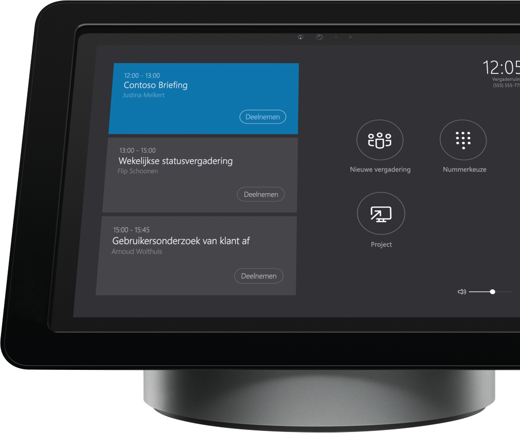 Skype Room Systems op vergaderruimteconsole