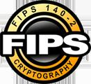 FIPS-logo, meer informatie over de Federal Information Processing Standard Publication 140-2