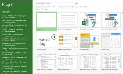 Uw projecten eenvoudig plannen en beheren