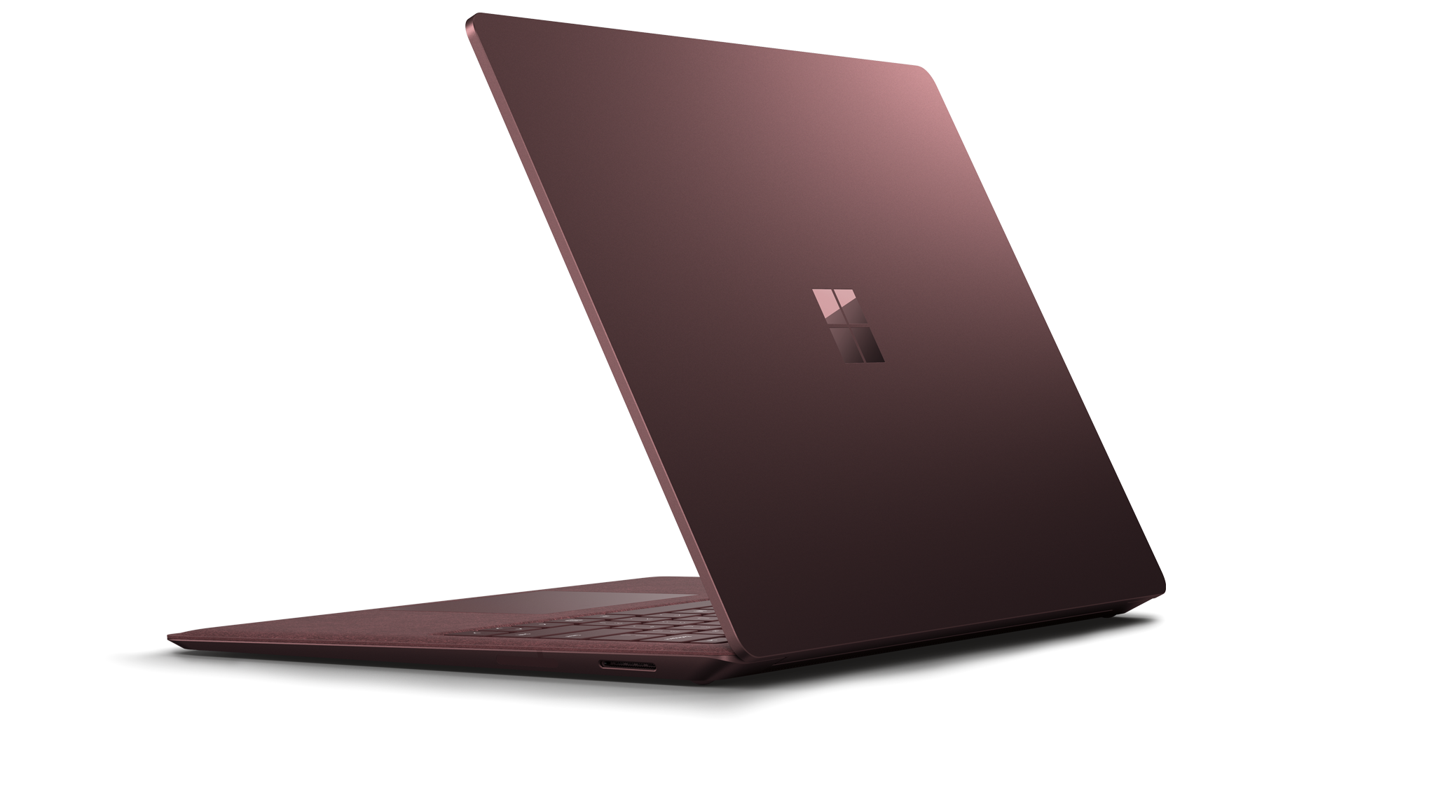 Zijaanzicht van de Surface Laptop 2