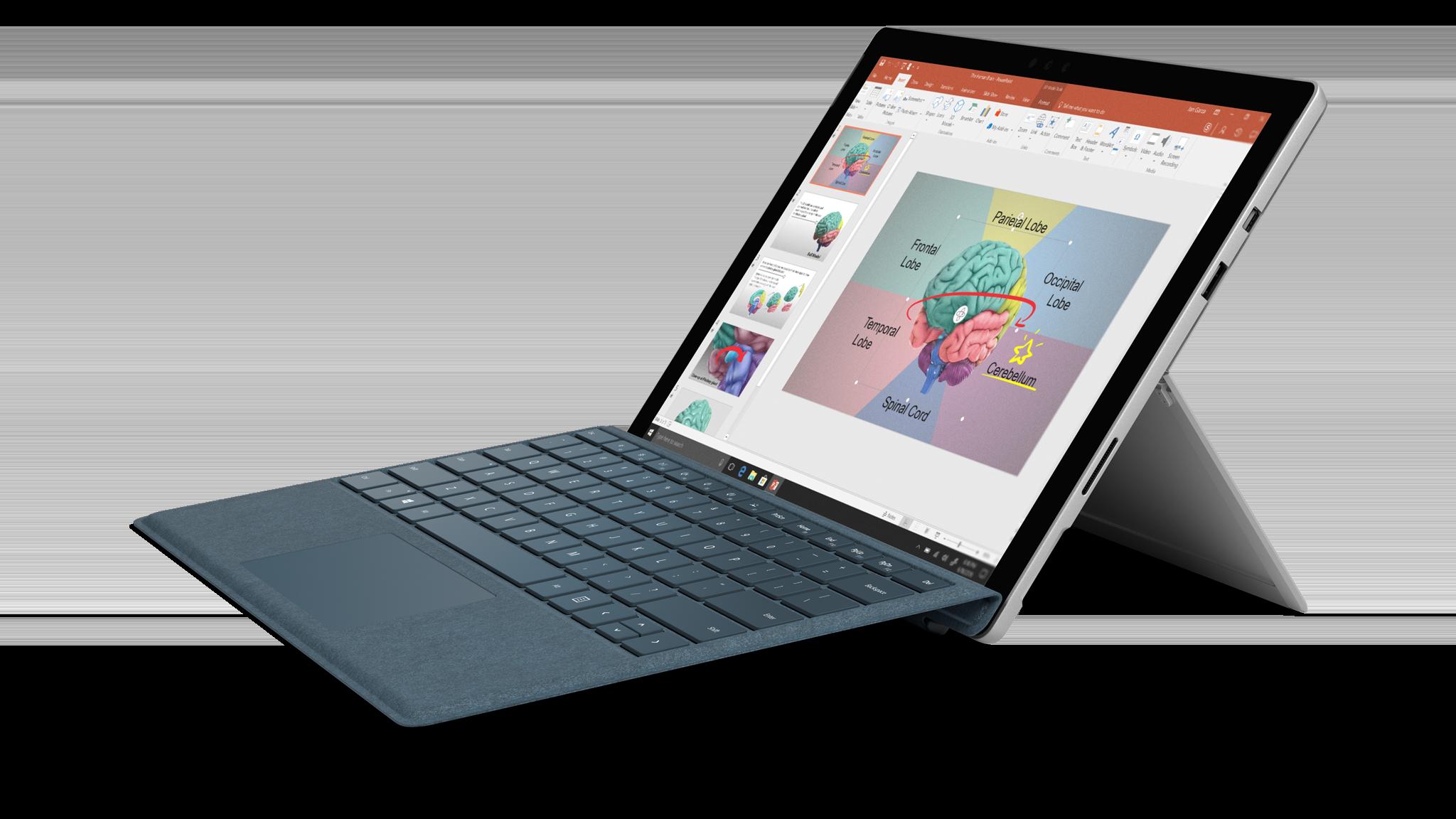 Zijaanzicht van de Surface Pro