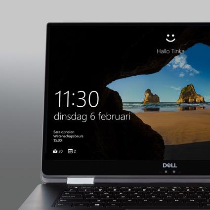Een Windows Hello-teken op het scherm