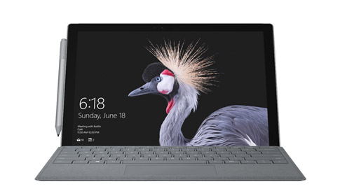 Surface Pro met LTE Advanced met Surface Pro Signature Type Cover en Surface-pen