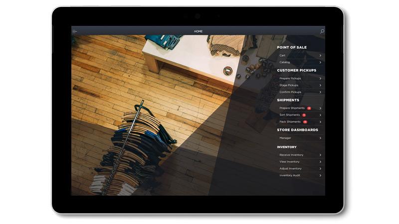 Manhattan Active Omni-app op een Surface Go