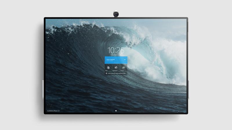Surface Hub 2S op een Steelcase-standaard