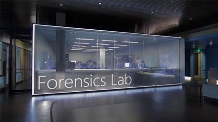 Microsoft Forensics Lab, de video over cyberbeveiliging en het beschermen van je organisatie op de pagina afspelen