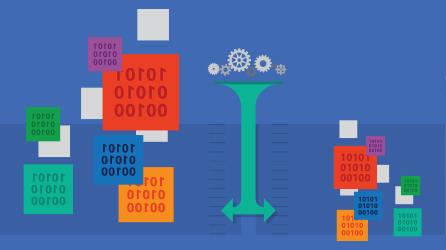 Illustratie bij artikel waarop informatietechnologie wordt afgebeeld, download het artikel over een framework voor informatie delen en risicobeperking voor cyberbeveiliging