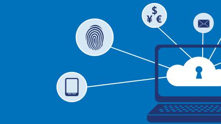 Illustratie bij artikel waarin zorgen over gegevensbeveiliging worden afgebeeld, download het artikel over de bescherming van gegevens en privacy in de cloud