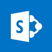 Microsoft SharePoint Mobile-logo, lees meer over de mobiele app van SharePoint op pagina
