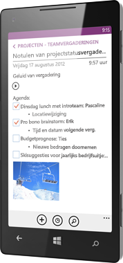 OneNote voor Windows Phone