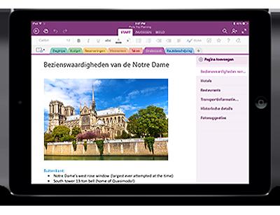 OneNote voor iPad