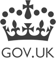Logo van Gov.UK, meer informatie over de G-Cloud