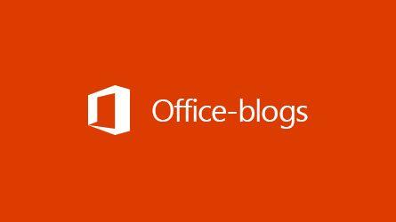 Office Blogs-logo, lees een artikel over het archiveren van gegevens van derden in Office 365
