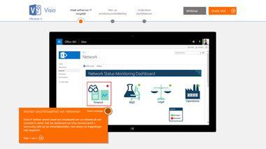 Visio TestDrive-pagina, volg een rondleiding door Visio Pro voor Office 365