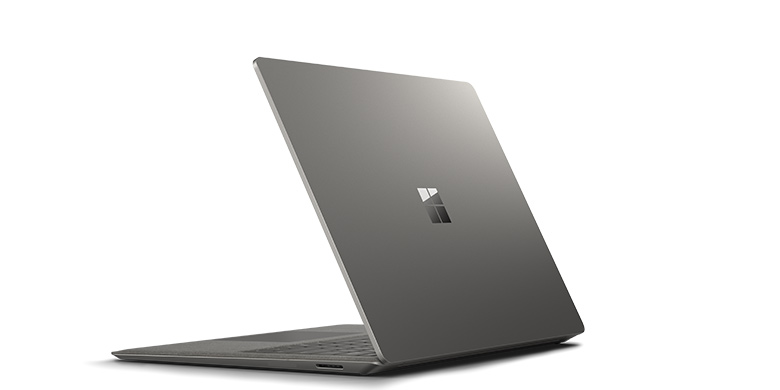 Achteraanzicht van Surface Laptop in grafiet goud