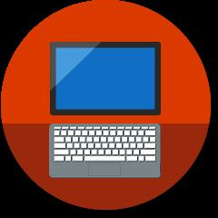 Pictogram 2-in-1-computer