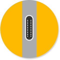 Antwoordpictogram USB-C-poorten