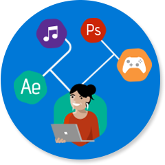 Intensief grafisch werk of videowerk - Programma's zoals Adobe Premiere Pro, Drawboard, AutoDesk AutoCAD en SolidWorks antwoordpictogram