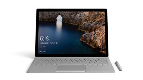 Surface Book, gezien vanaf de voorkant