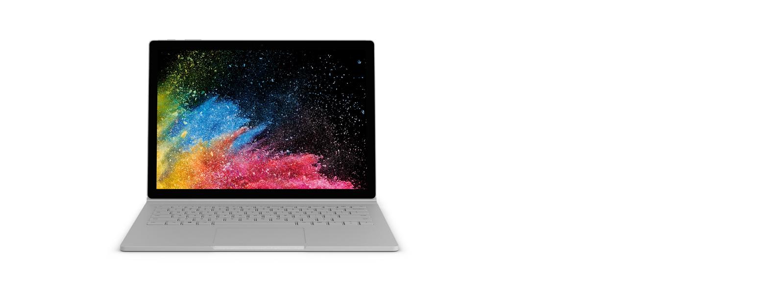 Surface Book 2 in laptopmodus met schermopname.